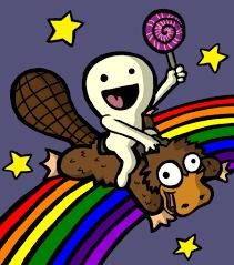 rainbow platypus lollipop by keydardlc on deviantart