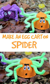 how to make an egg carton spider kids crafts egg cartons