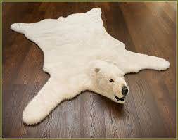 fake animal skin rugs with head home design ideas