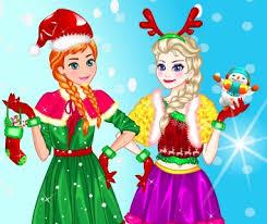 elsa anna christmas frozen games