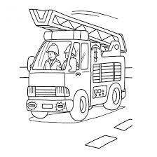 Coloriage Camion Pompier facile dessin gratuit à imprimer