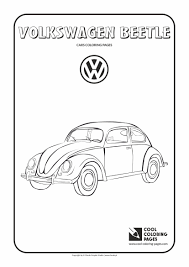 volkswagen beetle coloring page cool coloring pages