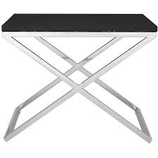 X Side Table Side Table Black Pw