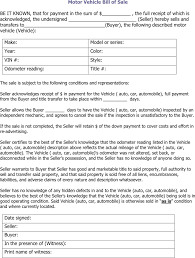 download illinois motor vehicle bill of sale form for free tidyform