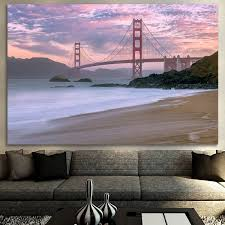 beautiful beach golden gate bridge san francisco canvas zapwalls zapwalls canvas beautiful beach golden gate bridge san francisco canvas