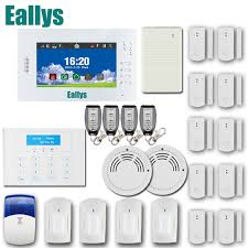 app smart home security alarm system with 7 inch touch screen gsm