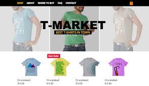 best t shirt shop fashion clothing website templates store wix