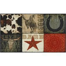 mainstays texas cowboy kitchen rug walmart com