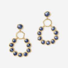 chandelier earring blue lapis goddess chandelier earring by isharya