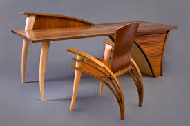 trimerous desk console hardwood table seth rolland