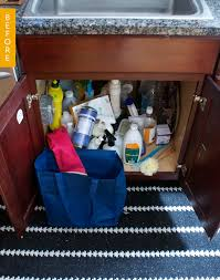 Kitchen Sink Storage Ideas Before U0026 After How I Organized My Disastrous Under The Sink Area