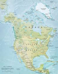 North America Maps by North America Large Physical And Relief Map Large Physical And