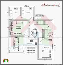 three bedroom two storey house plan architecture kerala ground floor plan