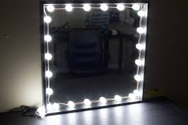 makeup mirror with led lights makeup mirror led light bulb series package with dimmer 9ft in