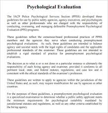 evaluation report templates