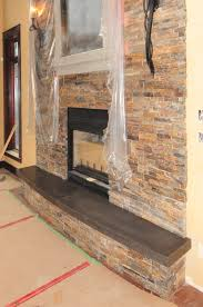add excitement to a beautiful fireplace with a concrete hearth