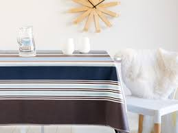 nappe en coton enduit nappe 100 coton enduit traitement antitache rayure bayadère bleu