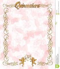 quinceanera party invitations 15th birthday quinceanera invitation stock photos image 6391603