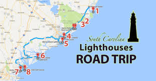 south carolina beaches map south carolina lighthose road tour