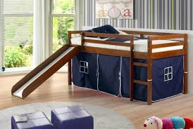 Donco Bunk Beds 58 Loft Bed With Tent And Slide Donco Loft Tent Bed
