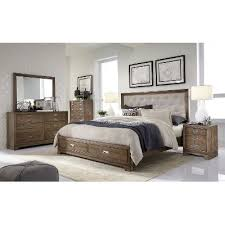 Caramel Brown Rustic Contemporary  Piece Queen Bedroom Set - Bedroom sets at rc willey