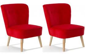 fauteuils rouges lot de 2 fauteuils en pin rouges looking design sur sofactory