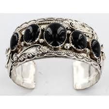 sterling silver black onyx bracelet images Certified authentic navajo 925 sterling silver black onyx jpg