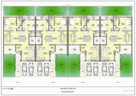 right side elevation rukle project floorplan243 duplex plans with