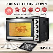 Portable Toaster Oven Maxkon 48l Portable Oven Electric Convection Toaster 2 Layers With