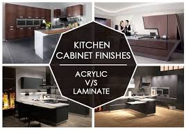 how to choose laminate for kitchen cabinets acrylic finish vs laminate finish select best for your