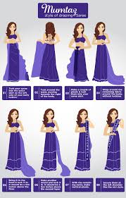 Draping Designs How To Wear A Saree In Different Ways Step By Step Tutorial