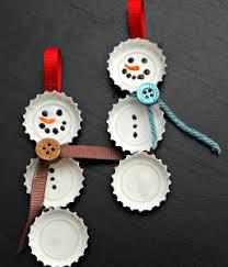best bottle cap snowmen ornaments diy cap and bottle