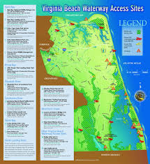 Road Map Virginia by Virginia Beach Waterways Access Map J Albert Bowden Ii Flickr