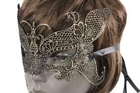 black fabric elastic stretch half face eye costume halloween mask