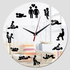 Bedroom Clocks | 2016 new wall home art acrylic stickers bedroom clock wall clocks