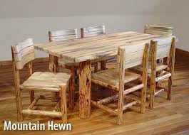 Log Dining Room Tables Rustic Log Furniture Natural Building Blog