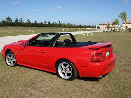2004 mustang gt torch red convertible custom upholstery