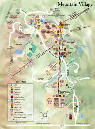 Colorado Mountain Map by Mountain Village Tourist Map Mountain Village Colorado U2022 Mappery