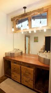 industrial pendant gets dressed up in texas bathroom vanity blog