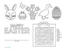 coloring placemats 4 free printable easter placemats real simple