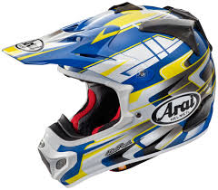 junior motocross helmets arai mx v tip motocross helmet yellow blue buy cheap fc moto