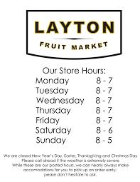 layton fruit market store hours
