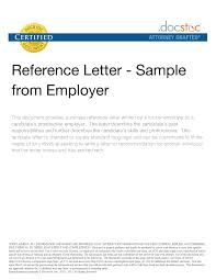 ideas collection sample reference letter former employer about