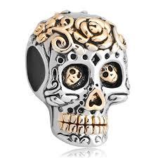 halloween charm bracelet ninaqueen skull 925 sterling silver bead for women fit charms