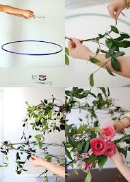 Wire Chandelier Diy Tutorial Make A Hanging Flower Chandelier For Your Next Party