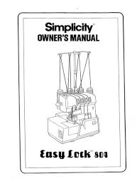simplicity easy lock 804 instruction operating manual