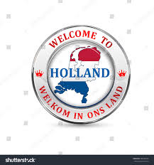 welcome holland welcome our country translation stock vector