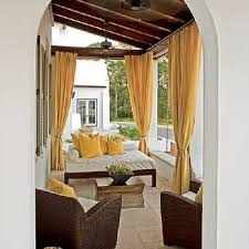 Outdoor Curtains With Grommets Yellow Grommet Outdoor Curtains Design Ideas