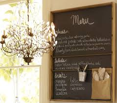 awesome kitchen chalkboard wall pottery barn rustic wall organizer