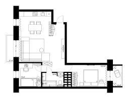 Large Floor L Bedroom Apartment Layout Floorplan Bedroom L Shaped Home
